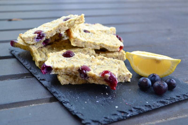 Blueberry Lemon Chia Seed Protein Bars