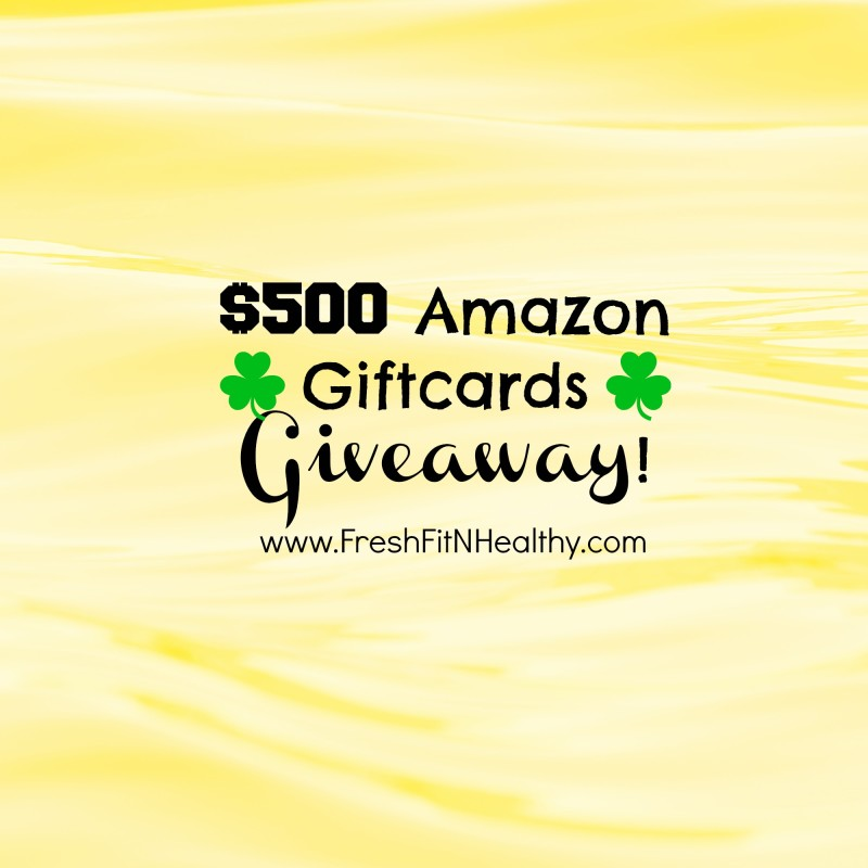 TWO $500 Amazon Giftcards Giveaway!