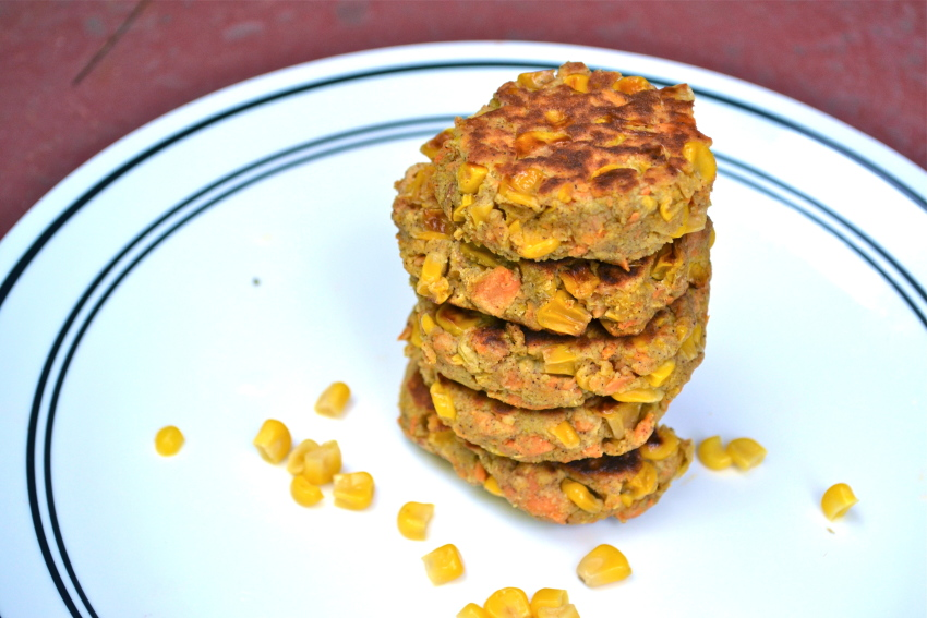 Cinnamon Spiced Sweet Potato and Corn Fritters [gf]