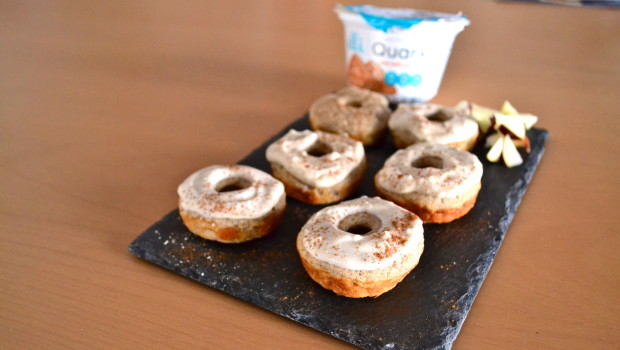 "Apple Pie Donuts with Salted Caramel ""Frosting"""
