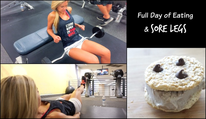Leg Day Workout + What I Ate in a Day
