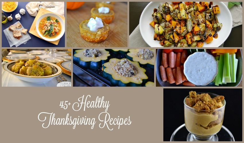 45+ Healthy Thanksgiving Recipes Round-Up! {GF, DF, Paleo, Vegan options!}