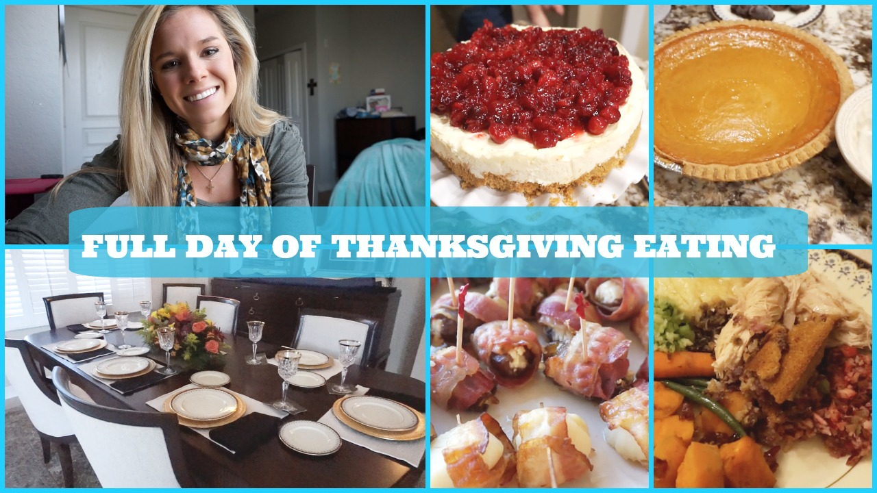 What I ate for Thanksgiving: It's ok to splurge! {Vlog}