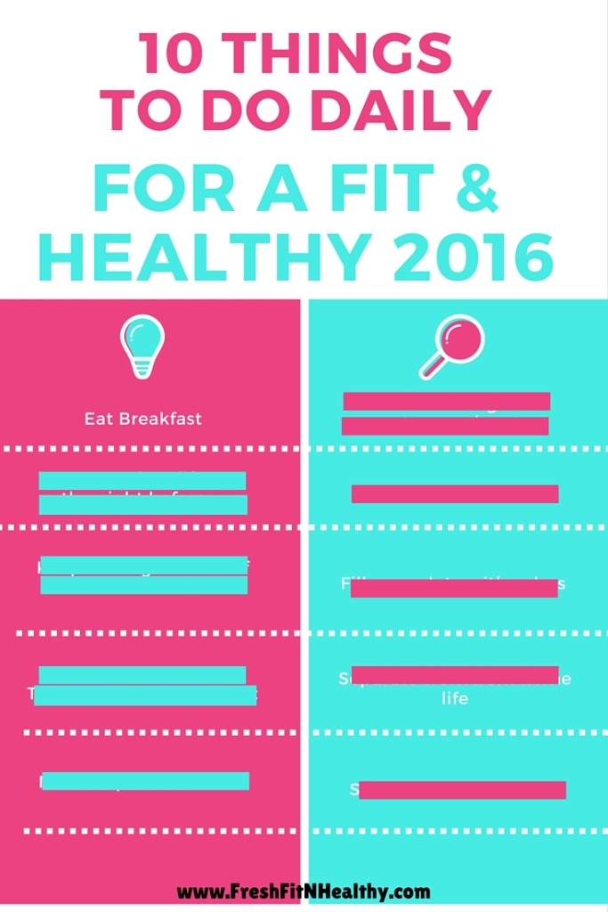 Copy of 10 things for a healthy and fit 2016