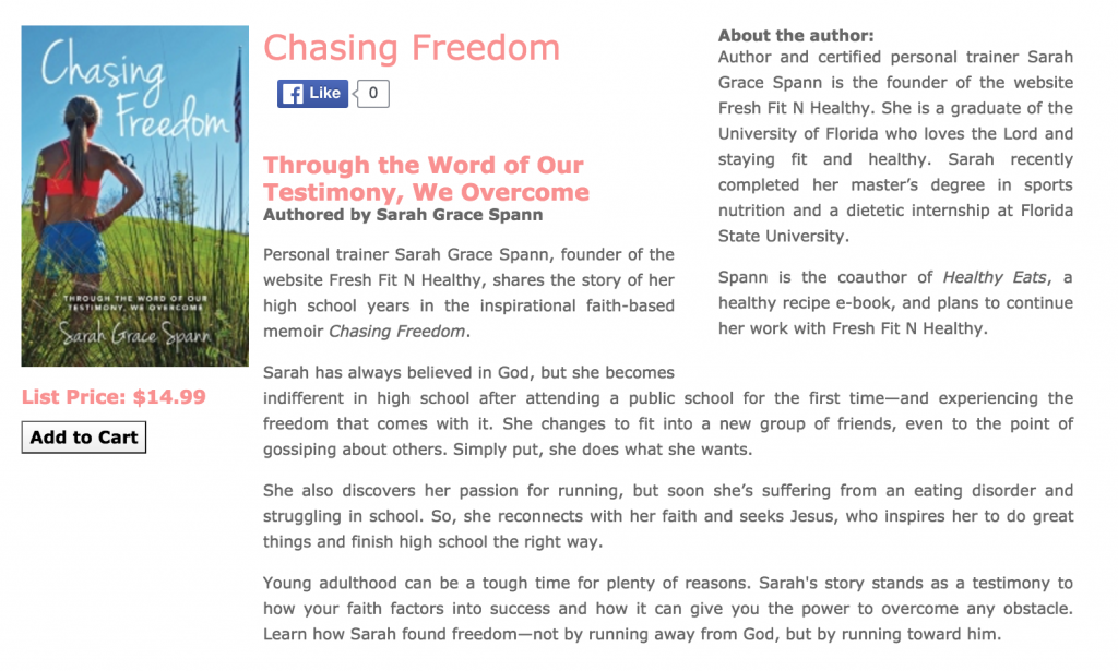 chasing freedom by sarah grace