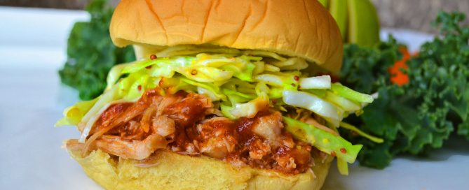 healthy BBQ chicken sandwich