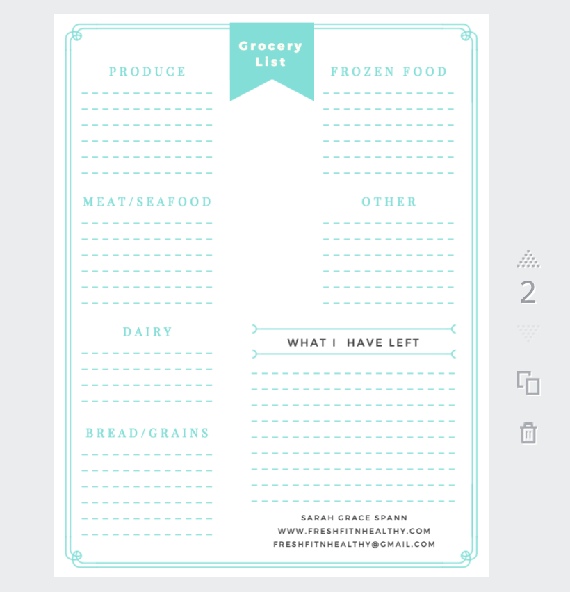 meal planning pdf
