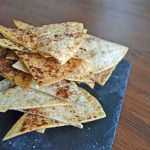 Cinnamon Sugar Healthy Tortilla Chips
