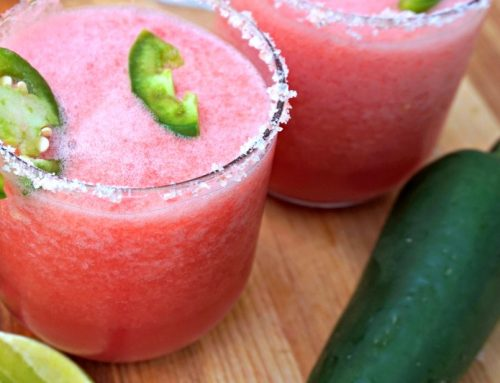 Spicy Healthy Watermelon Margarita {4 ingredients}