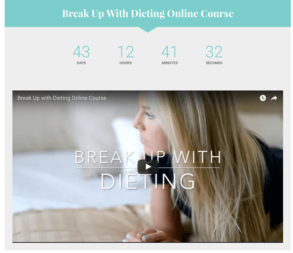 breaking up with dieting