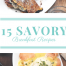 healthy savory breakfast recipes