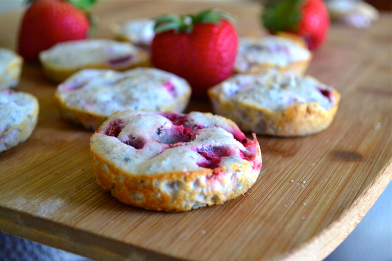 Paleo Strawberry Shortcake Doughnuts