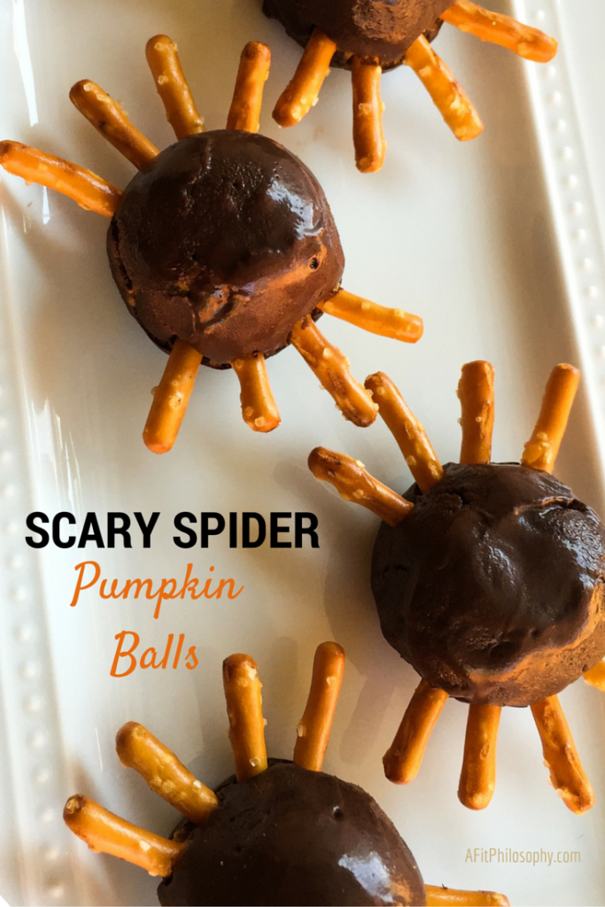 Scary Spider Pumpkin Balls