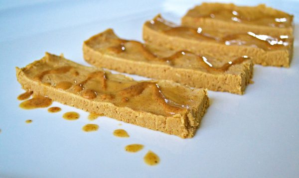 Almond Butter Banana Bread Protein Bars {no bake}
