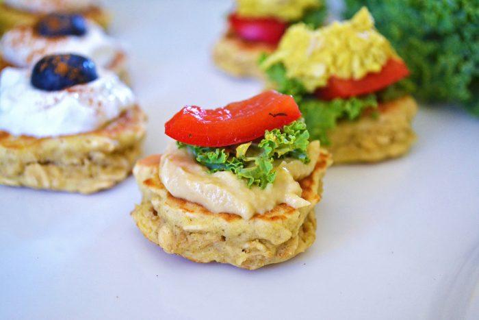 Appetizer Pancake Bites {gf, savory & sweet}