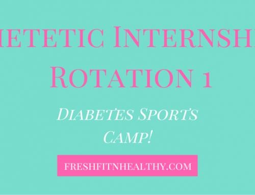 Dietetic Internship Rotation #1: Diabetes Sports Camp + Tips!
